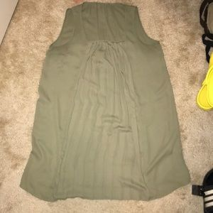 Forever 21 Light Olive Sleeveless Dress